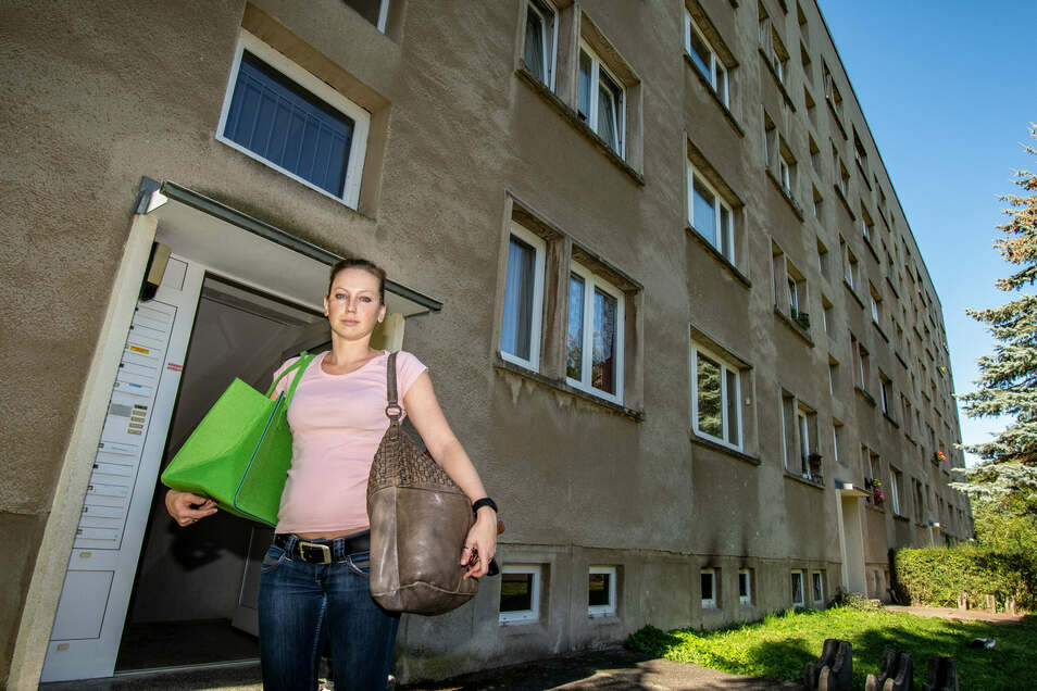 Evelyn Weißer hat noch einige Sachen aus ihrer Wohnung geholt. Sie wird vorübergehend in einer Wohnung der Fachklinik Bethanien untergebracht.