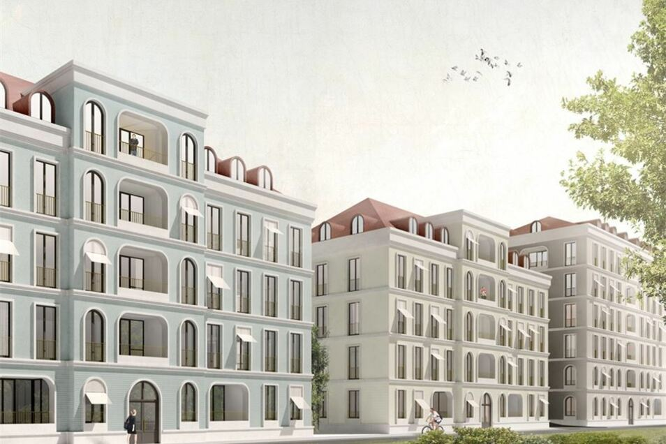 Gleich nebenan  an der Theresienstraße sollen auch drei Neubauten errichtet werden.