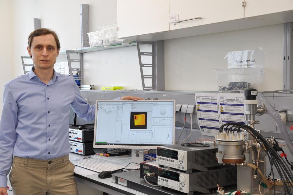 Axel Fischer ist einer der beiden Gründer von SweepMe. Mit ihrem Programm wollen sie die Laborarbeit schneller machen.