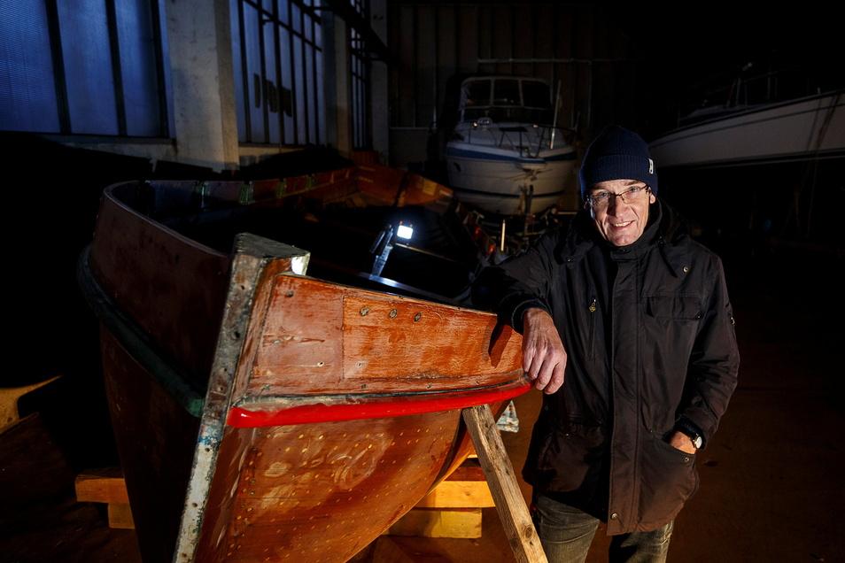 Manfred Dahms ist passionierter Segler und Chef der Lausitzer Wassersportfreunde. Er hält die Stellungnahme der Stadt für falsch.