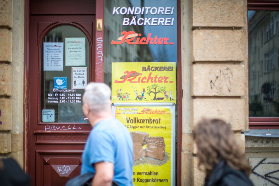 Die Bäckerei Richter auf der Alaunstraße in Dresden-Neustadt muss an zwei Tagen in der Woche geschlossen bleiben - es fehlt Personal.