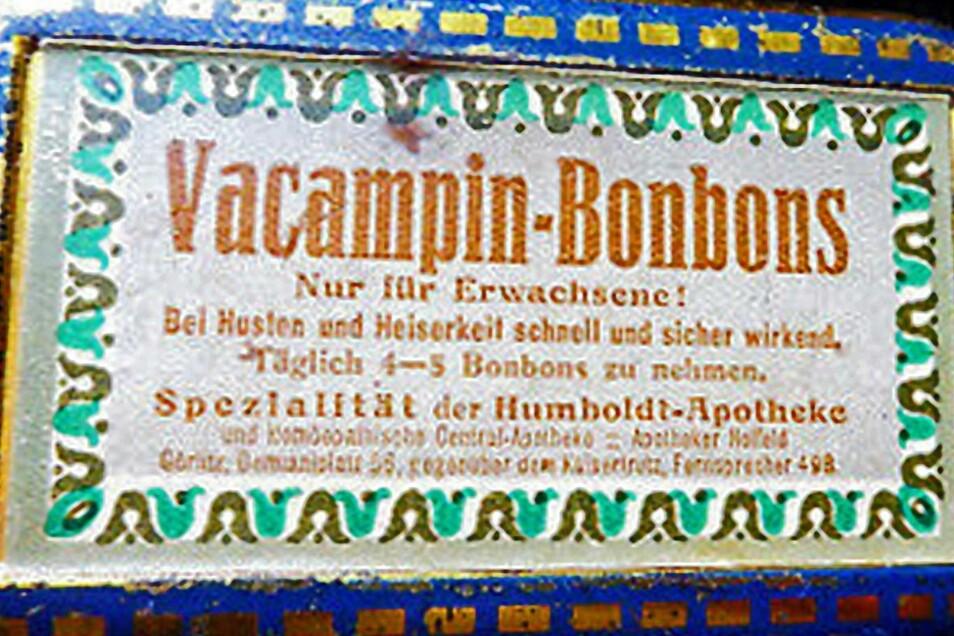 """Die hauseigenen """"Vacampin""""-Produkte wurden seinerzeit weltweit bekannt."""