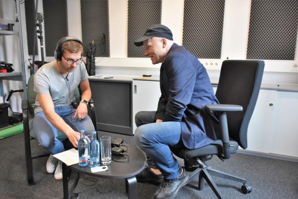 Blick hinter die Kulissen: In diesem Studio entstehen die SZ-Podcasts. © Steffen Klameth