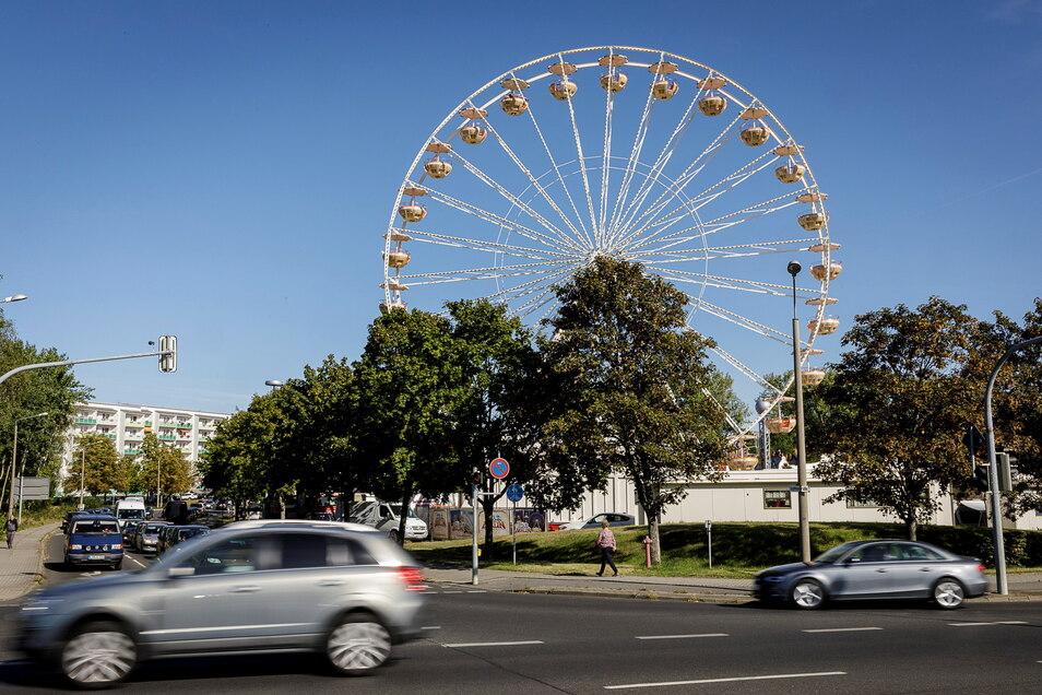 Normalerweise beim Altstadtfest, voriges Jahr im Kidrontal: das Riesenrad der Schausteller Probst.