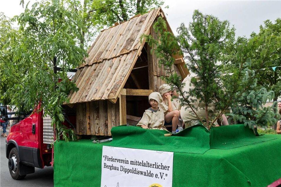 Impressionen vom Festumzug:  Mittelalterlicher Bergbau in Dippoldiswalde