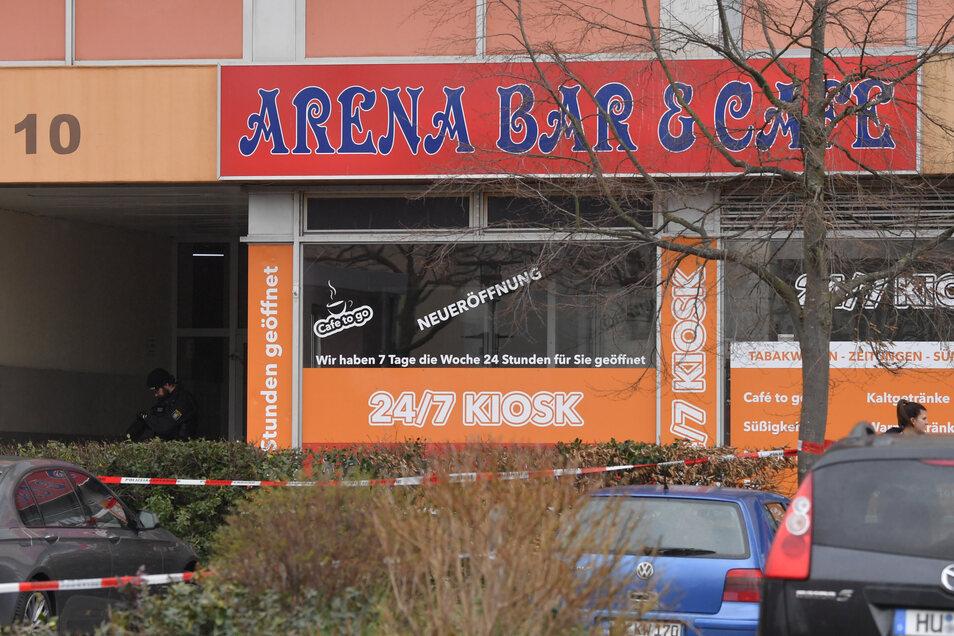 Einer der Tatorte, eine Shisha-Bar in Hanau.