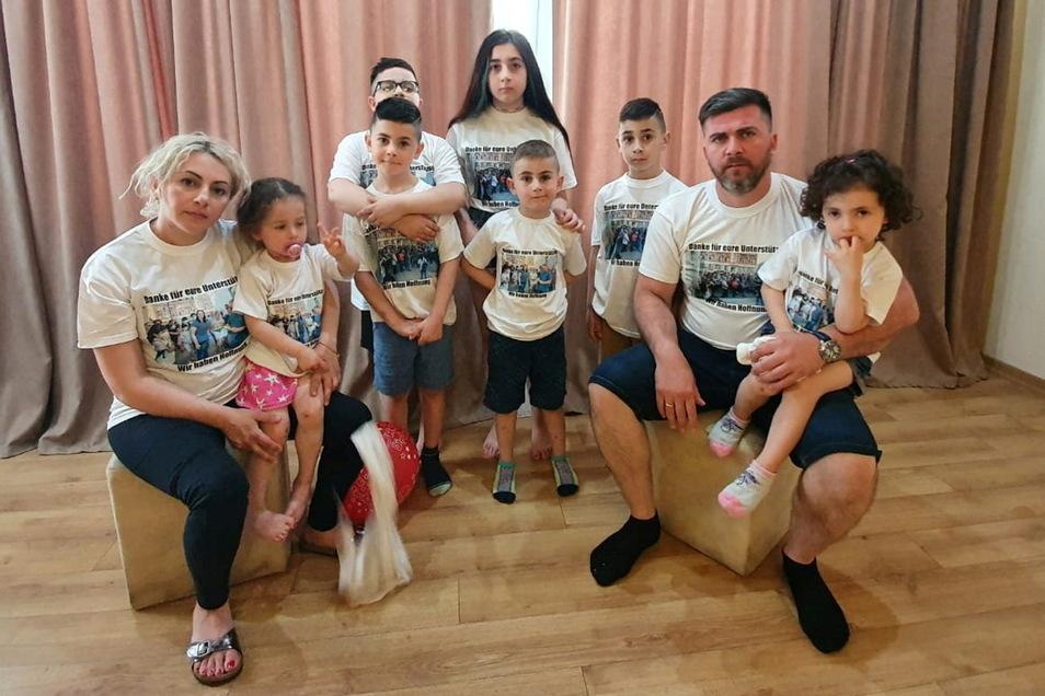 Familie Imerlishvili wurde nach Tiflis ausgeflogen.