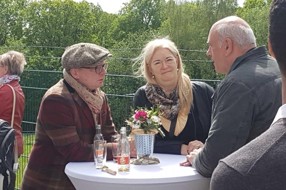Ewige Kämpfer für den Fernsehturm: Uwe Steimle, Barbara Lässig und Thomas Jurk (v.l.)