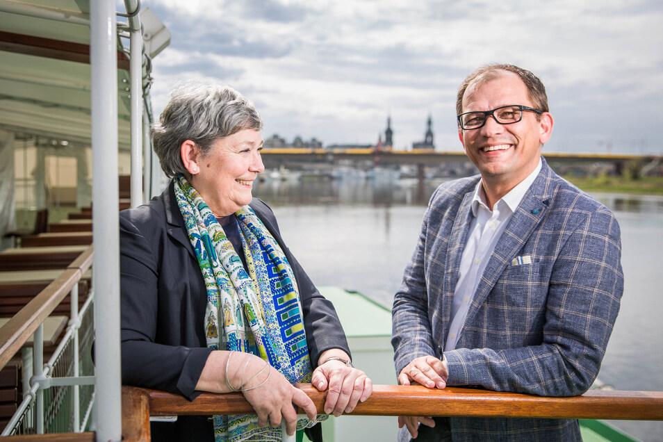 Karin Hildebrand hört auf. Jeffrey Pötzsch braucht als neuer Chef der Dampferflotte ab 2021 einen Geschäftsführer-Kollegen.