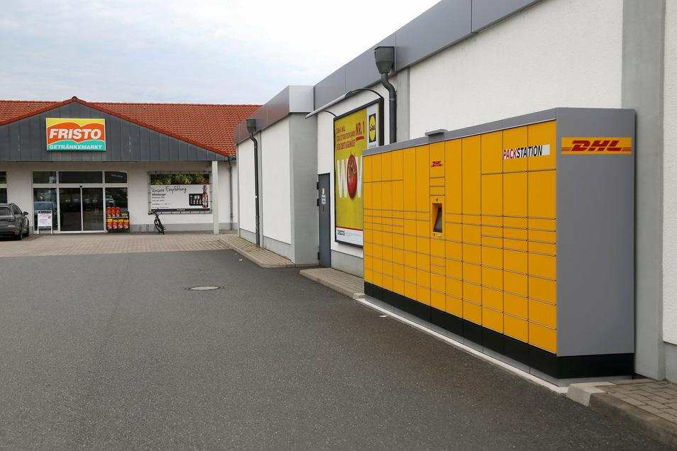 Die Packstation am Lidl an der Langen Straße in Riesa war erst im Sommer 2020 eröffnet worden.