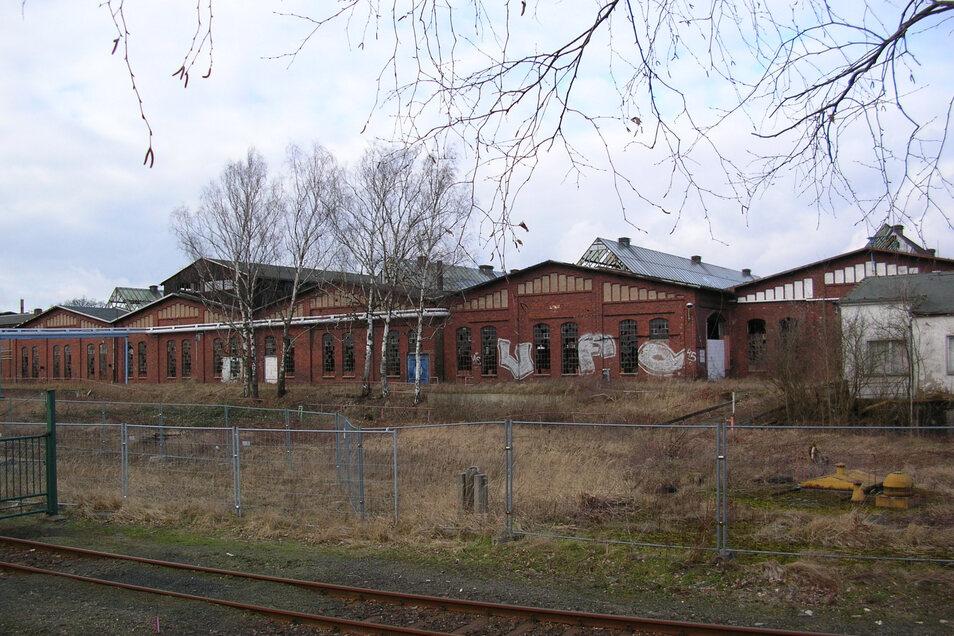 Blick auf das ehemalige Bahngelände im Stadtteil Schlauroth.