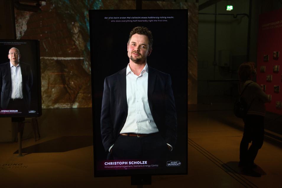 Christoph Scholze ist einer von 20 Sachsen, die auf der Sächsischen Landesausstellung in Zwickau als Zukunftsmacher ausgestellt werden.
