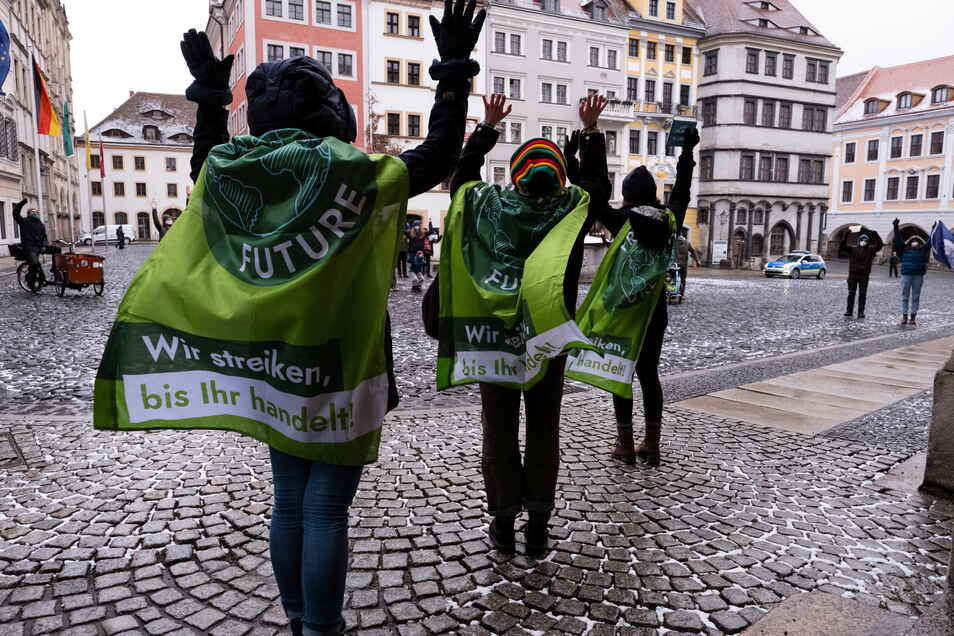 Auch im März waren einige Schüler in Görlitz wieder für das Klima auf der Straße.