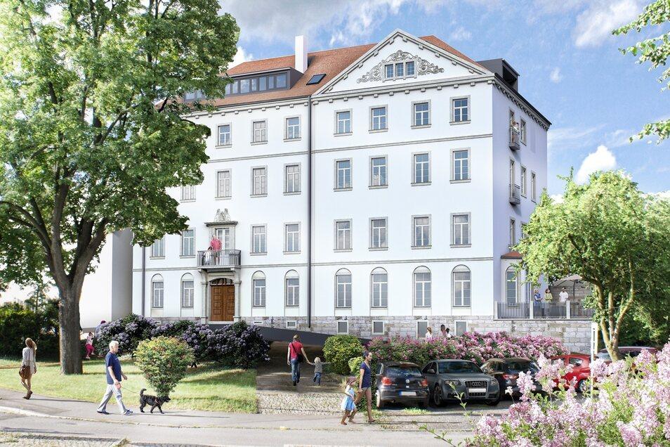 """So soll der """"Palazzo di Finanza"""" am Tischerplatz in Pirna einmal aussehen."""