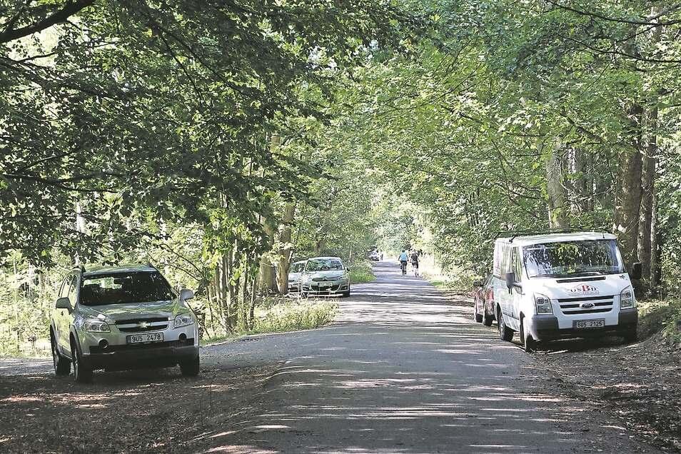 Im Visier der Nationalparkranger: wild parkende Autos.