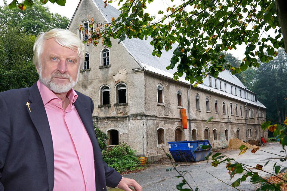 Viktor Philippi aus Taubenheim will das Oppacher Schloss sanieren und ein Zentrum für Stressabbau einrichten.