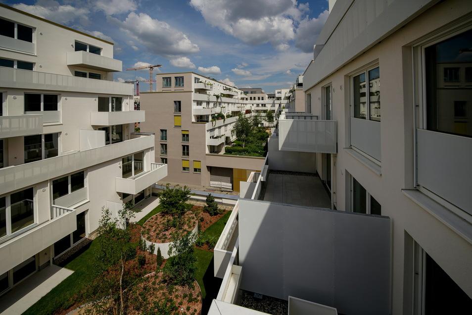 """Ein Blick in die Höfe des Neubaus """"Boulevard Am Wall""""."""