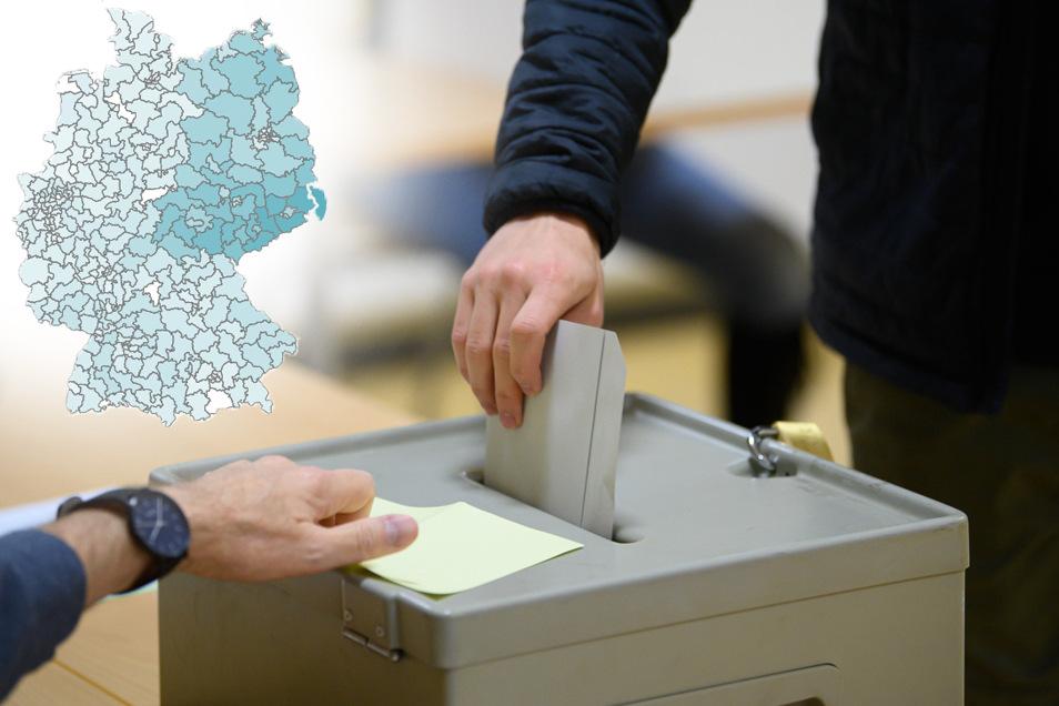 Im Osten holt die AfD die höchsten Wahlkreisergebnisse. Vor allem Mittelsachsen ist Kernland der Partei.
