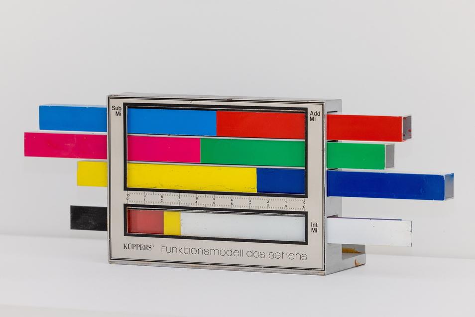 Ein Objekt aus der Sammlung Farbenlehre der Technischen Universität Dresden: Harald Küppers Funktionsmodell des Sehens.
