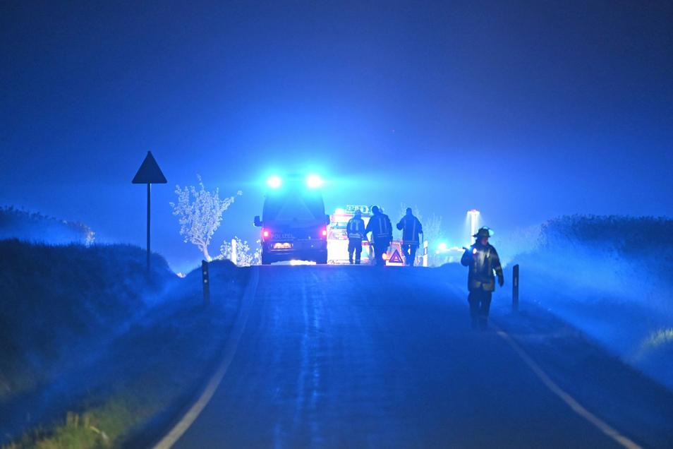 In der Nacht zum Mittwoch gab es einen Unfall bei Weißenberg.