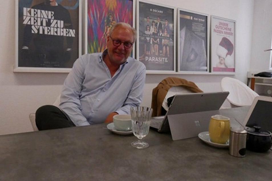 Michael Pawlowski ist der Chef vom Kinopalast Pirna. Er macht sich Sorgen um die Zukunft der Kinobranche.