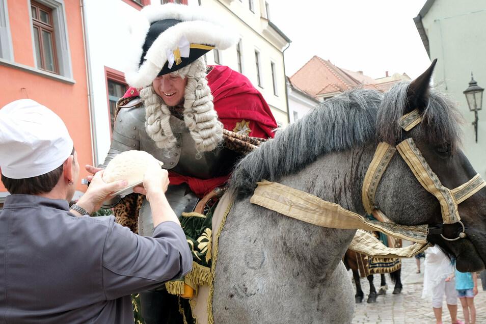 Auch August der Starke war beim Familienfest dabei.