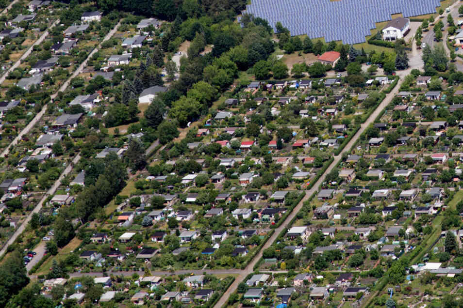 Die größte Konzentration von Kleingärten findet sich an Hoyerswerdas westlichem Stadtrand.
