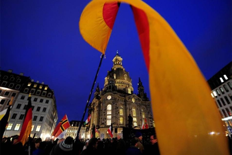 Pegida hat am Montag erneut in Dresden demonstriert.