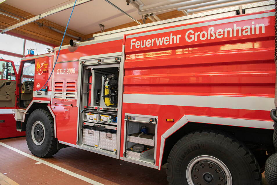 Der neue GTLF 9000 wurde durch die Stadt Großenhain 2020 ausschließlich aus städtischen Eigenmitteln finanziert und angeschafft.