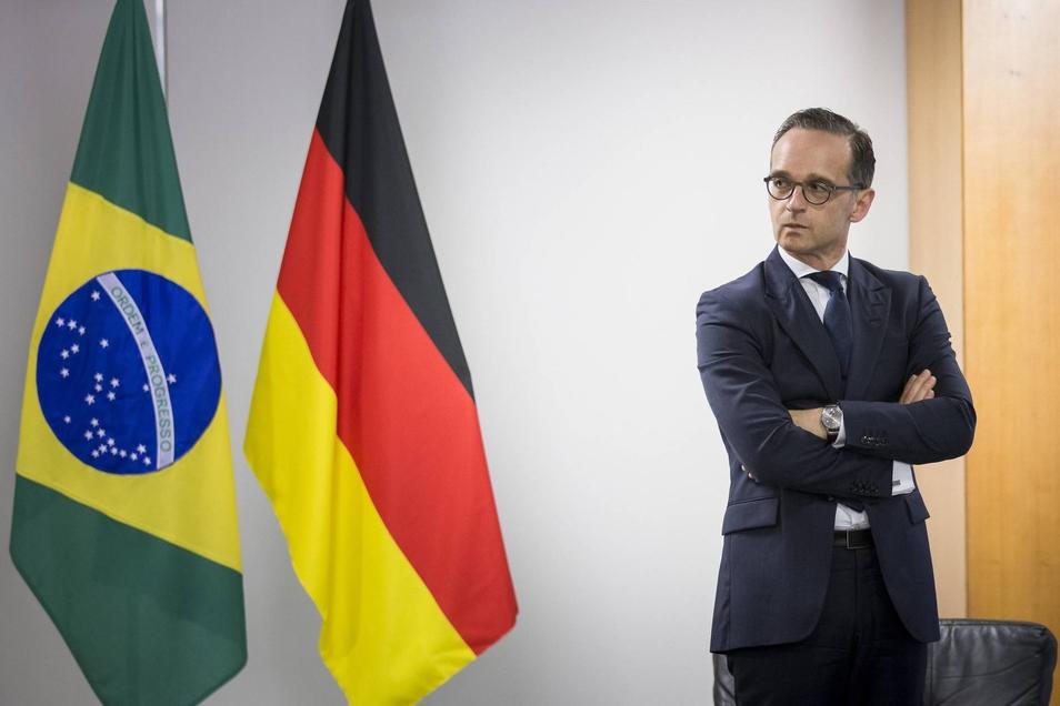 BundesaußenministerHeiko Maas (SPD) während seines Aufenthaltes in Brasilia.