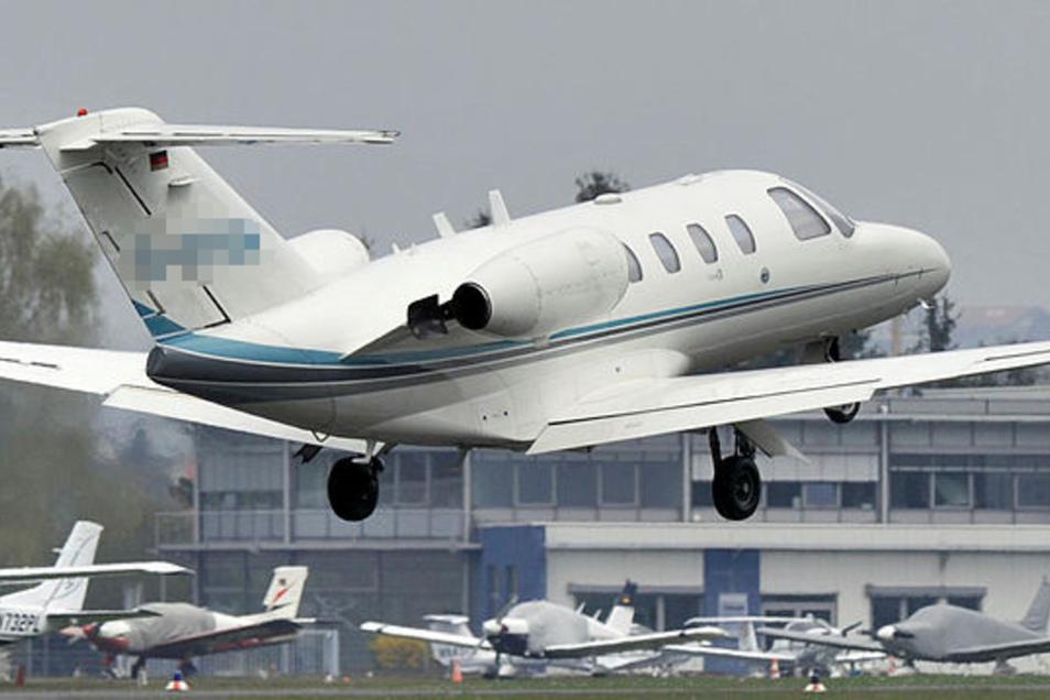 Ein solcher Cessna Citationjet donnerte Samstagabend über Dresden. Ein ähnlicher Flieger wagte im Mai einen Tiefflug über der Region Wilsdruff.
