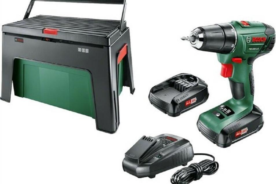 Akku-Bohrschrauber von Bosch mit Workbox   ab 30 € statt 99,99 €
