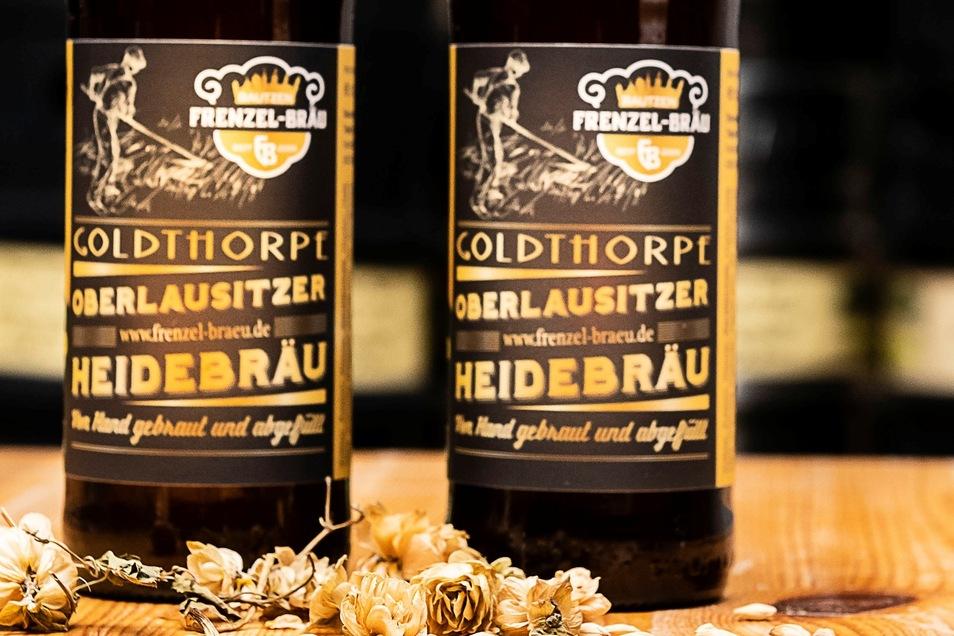 So sieht das Etikett des Oberlausitzer Heidebräus aus.