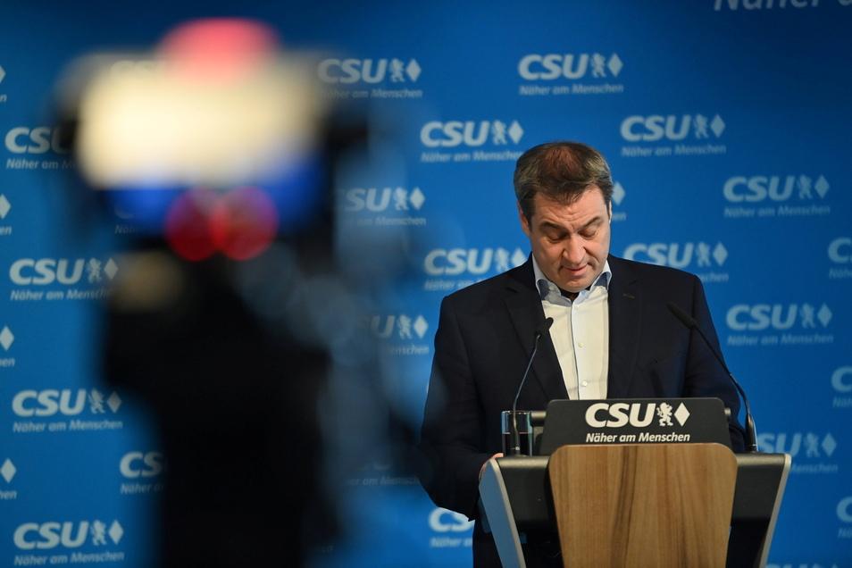 Der bayerische Ministerpräsident und CSU-Chef Markus Söder verzichtet auf die Kanzlerkandidatur.