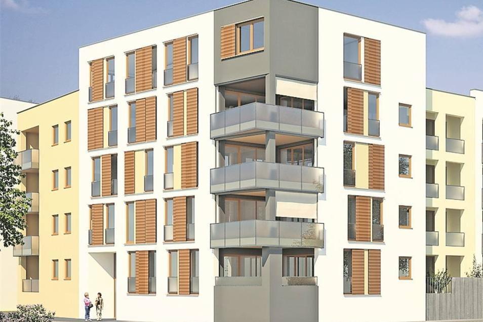 Musikerviertel Auf dem Grundstück Schießhaus/ An der Herzogin Garten errichtet die Firma Treuwobau ab Sommer 22 Eigentumswohnungen. Sie sind zwischen 75 und 166 Quadratmeter groß.