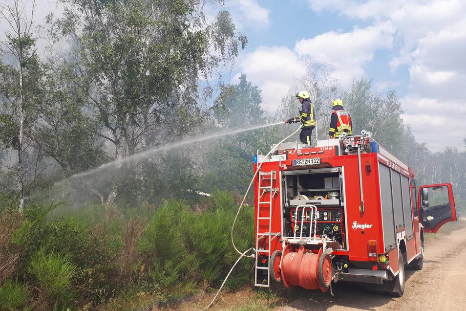 Die Feuerwehr Zeithain am 3. Juli im Einsatz.