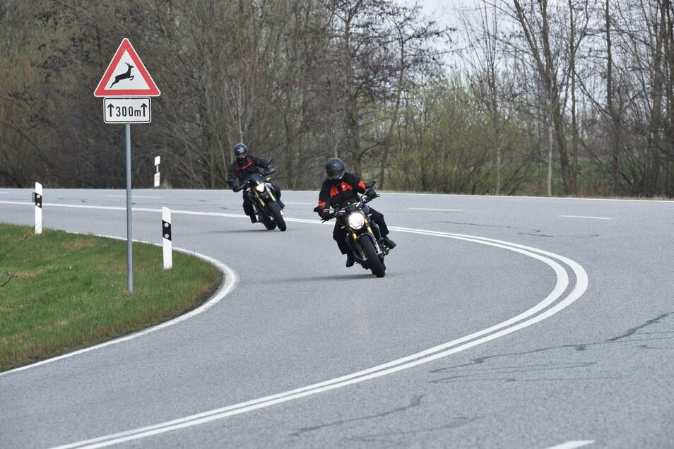 """Auf dem """"Brenner"""" geben Biker gern richtig Gas. Der Lärm ist oft weithin zu hören. Geblitzt wird allerdings erst am Ortseingang Lauenstein. Kurz zuvor sind die Motorräder oft schon abgebogen."""