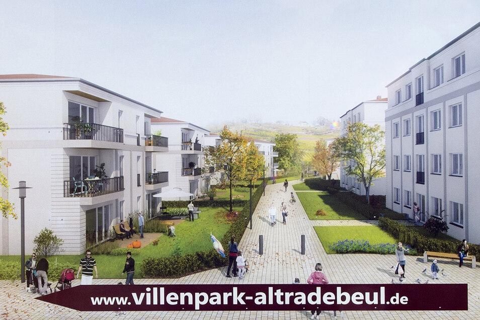 Oberhalb der Meißner Straße entstehen sieben Gebäude mit 52 Eigentumswohnungen.