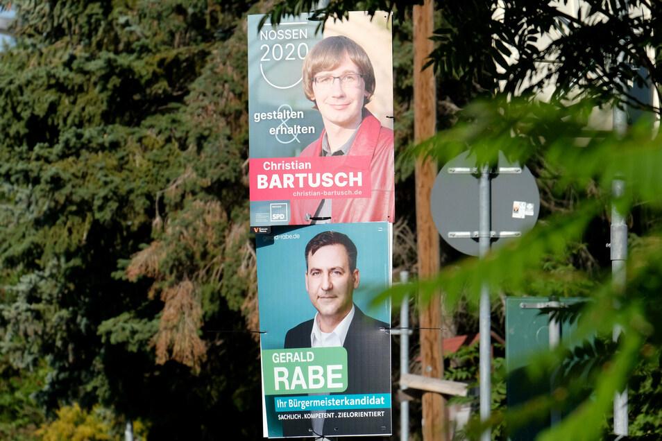 Wer wird neuer Bürgermeister in Nossen: Christian Bartusch oder Gerald Rabe? Beim zweiten Wahlgang am Sonntag, 8. November, gibt es die Entscheidung.