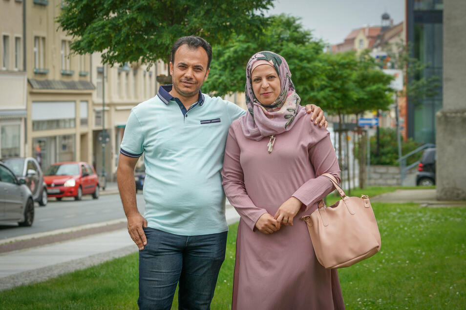 Iyad Albakkar Alabdullah und seine Frau Ruba Osman sind aus Syrien geflohen. Jetzt engagieren sie sich in Bautzen für andere Geflüchtete.
