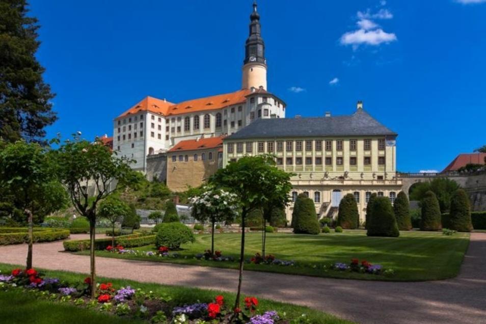 Der Schlosspark Weesenstein lädt zum Spaziergang - Eintritt muss man nicht bezahlen.