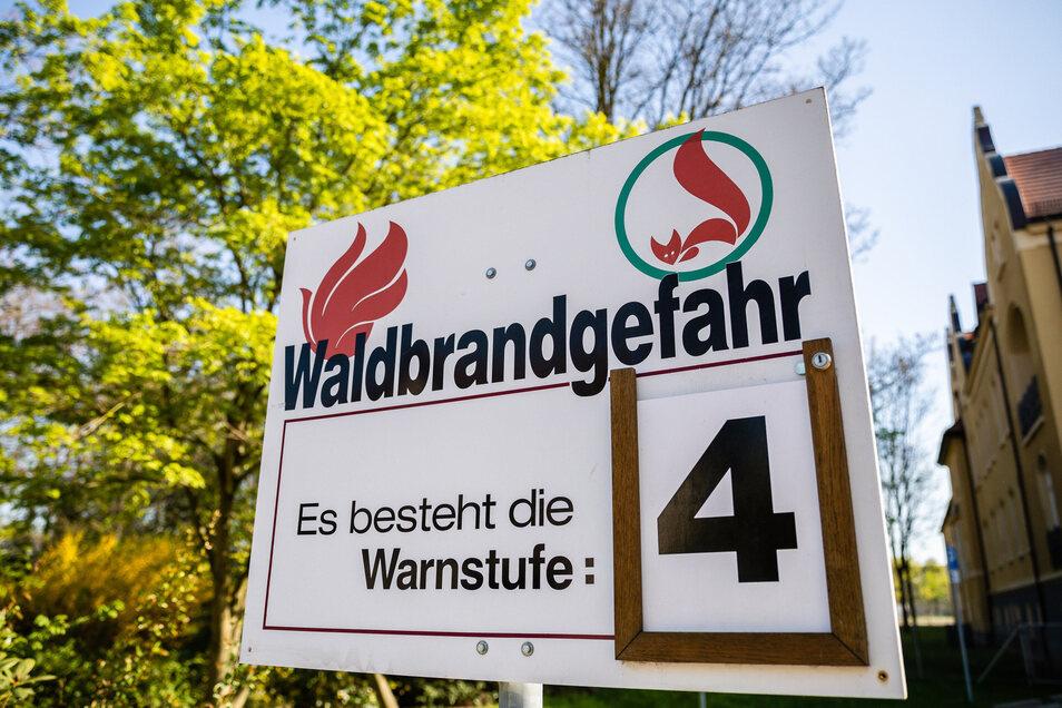 Die Waldbrandgefahr ist in Sachsen enorm hoch.