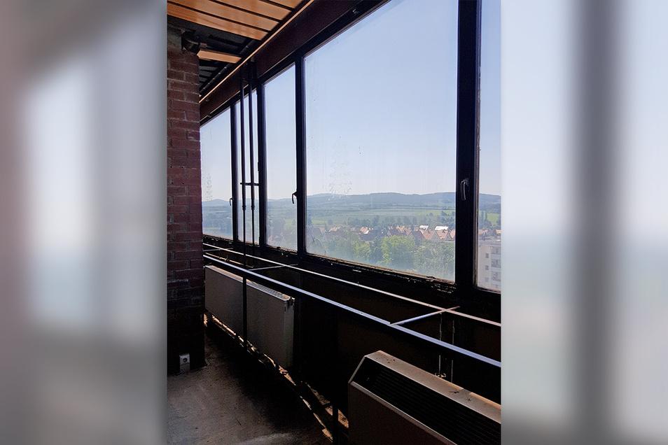 Die Perle des Cafés: die Sicht aus den Fenstern.