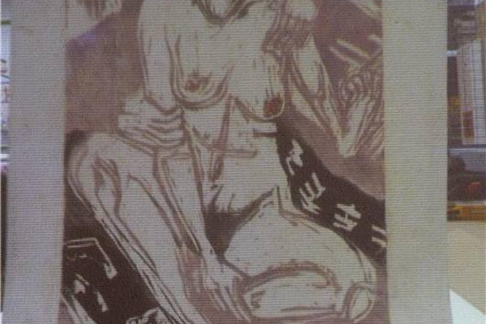 """Ernst Ludwig Kirchner: Gehört der Holzschnitt """"Melancholisches Mädchen"""" von Ernst Ludwig Kirchner der Kunsthalle Mannheim? So ein Farbholzschnitt war dort von den Nazis 1937 als """"entartete Kunst"""" beschlagnahmt worden. Doch Grafik wird meist in mehreren Exemplaren gedruckt. Zu beweisen, dass genau dieses Blatt aus Mannheim in die Gurlitt-Sammlung kam, wird schwierig."""