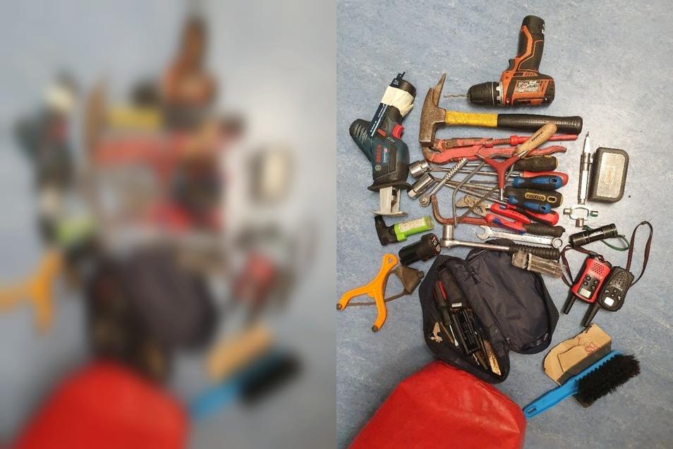 Schlagstock, Messer, Werkzeug, Fahrzeugschlüssel - all das lag in einem Mazda.