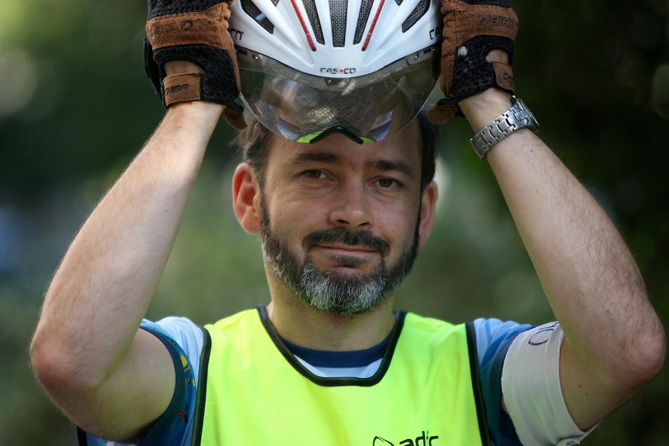 Steffen Hoffmann-Zahn aus Pirna ist nach wie vor für die Belange und Sorgen von Radfahrern in der Region Ansprechpartner.