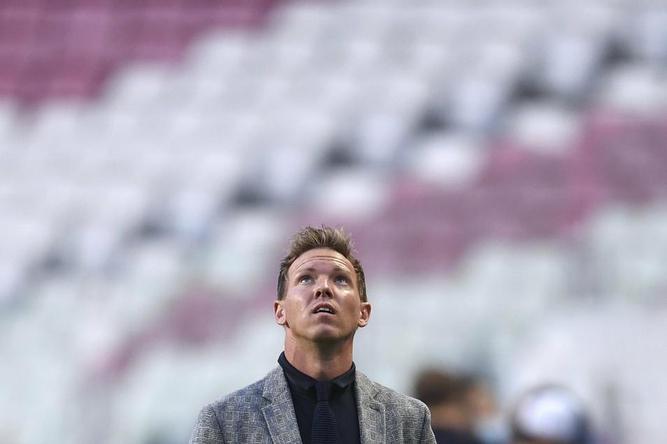 Der Blick geht nach oben, der Weg dahin ist noch weit – findet jedenfalls RB-Leipzig-Trainer Julian Nagelsmann.