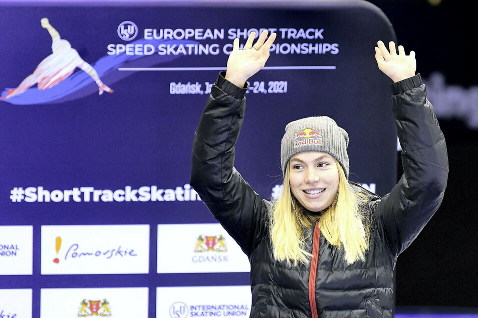 Der nächste Silberrang: Nach zwei zweiten Plätzen bei der Shorttrack-EM in Polen wurde Anna Seidel auch bei der Wahl zur Sportlerin des Monats Vize.