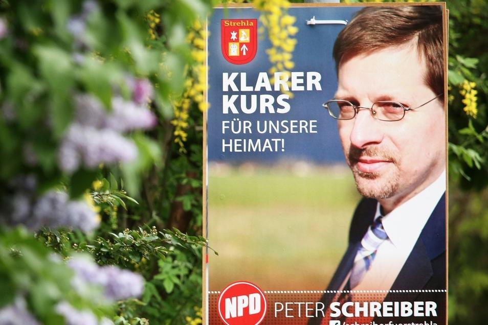Peter Schreiber hier auf einem früheren Wahlplakat.