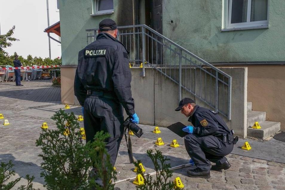 Anschlag auf Moschee in Dresden COtta am 27.9.2016 Foto: Tobias Wolf  Foto:  /  /